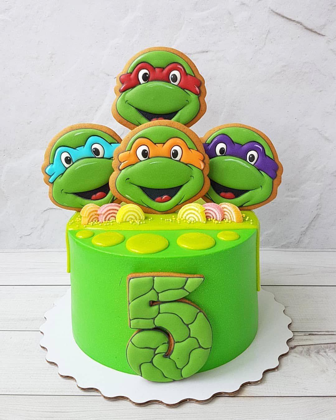 Do 12 08 Zakazy Ne Prinimayu Pryanichki Ot Victoriakhvru Dlya Zakaza Pishit Ninja Turtle Birthday Cake Cool Birthday Cakes Birthday Cake Decorating