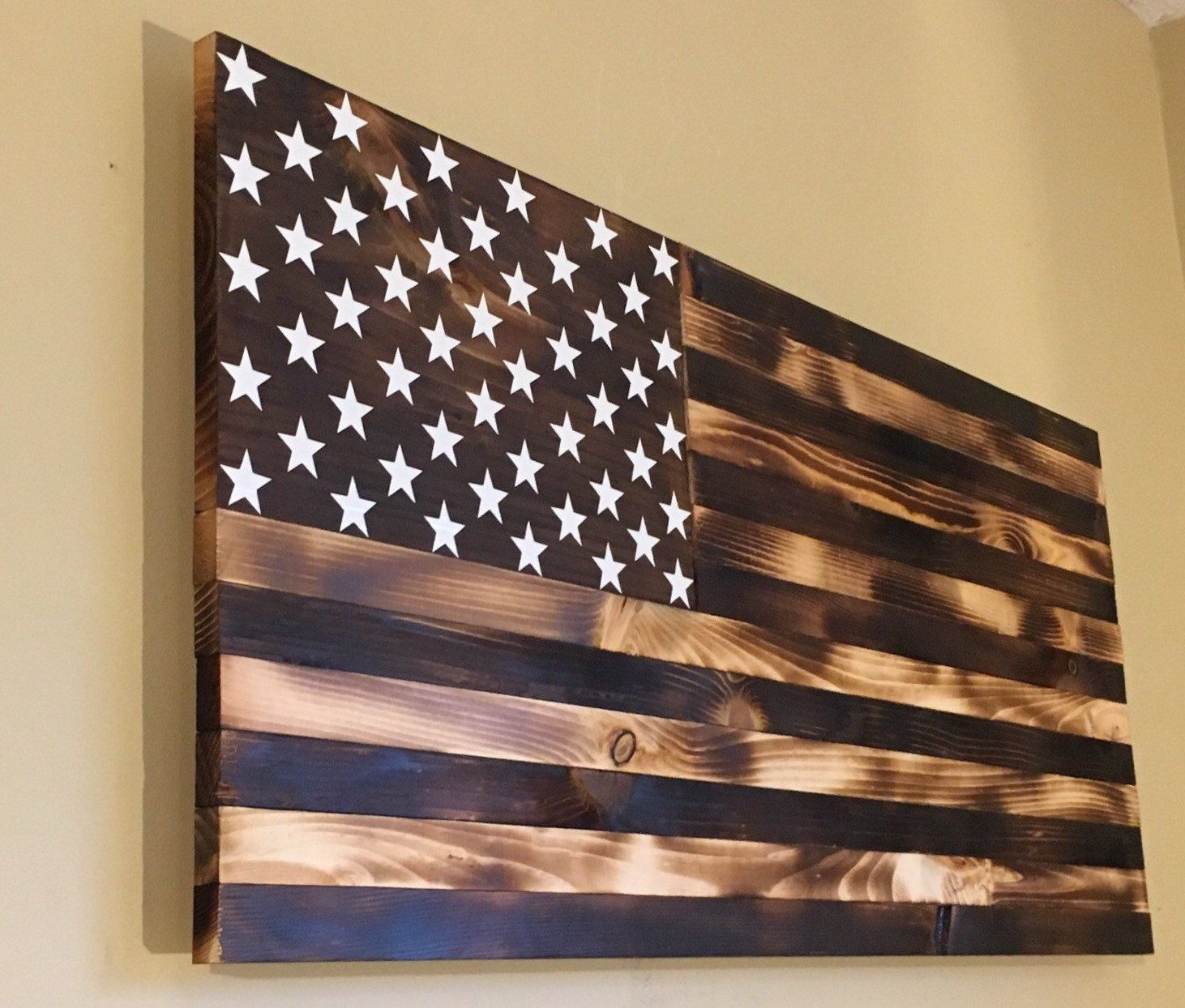 Burnt Wooden American Flag By CountryboyCraftin On Etsy