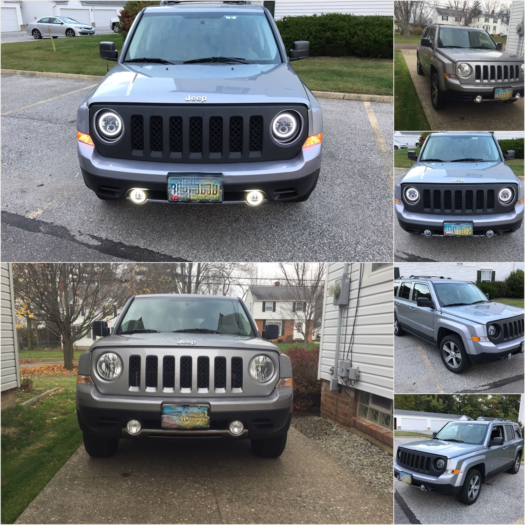 Jeep Patriot Halo Headlights Custom Install Jeep Patriot Jeep