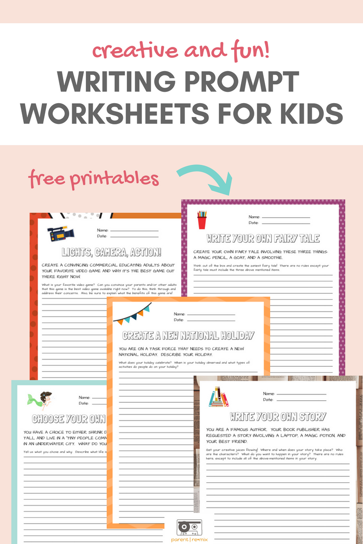 Writing Prompts For Kids Get Their Creative Juices Flowing With One