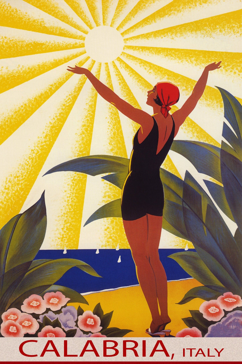 poster Enjoy Florida : Vintage USA Travel advertising Reproduction. Wall art