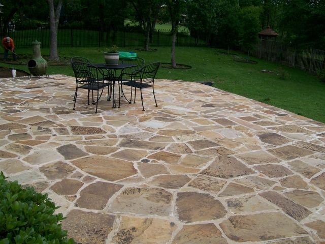 flagstone patio stone patio