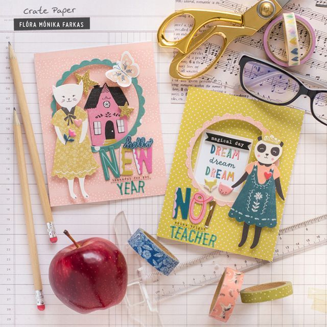 first day of school card for teachers  crate paper