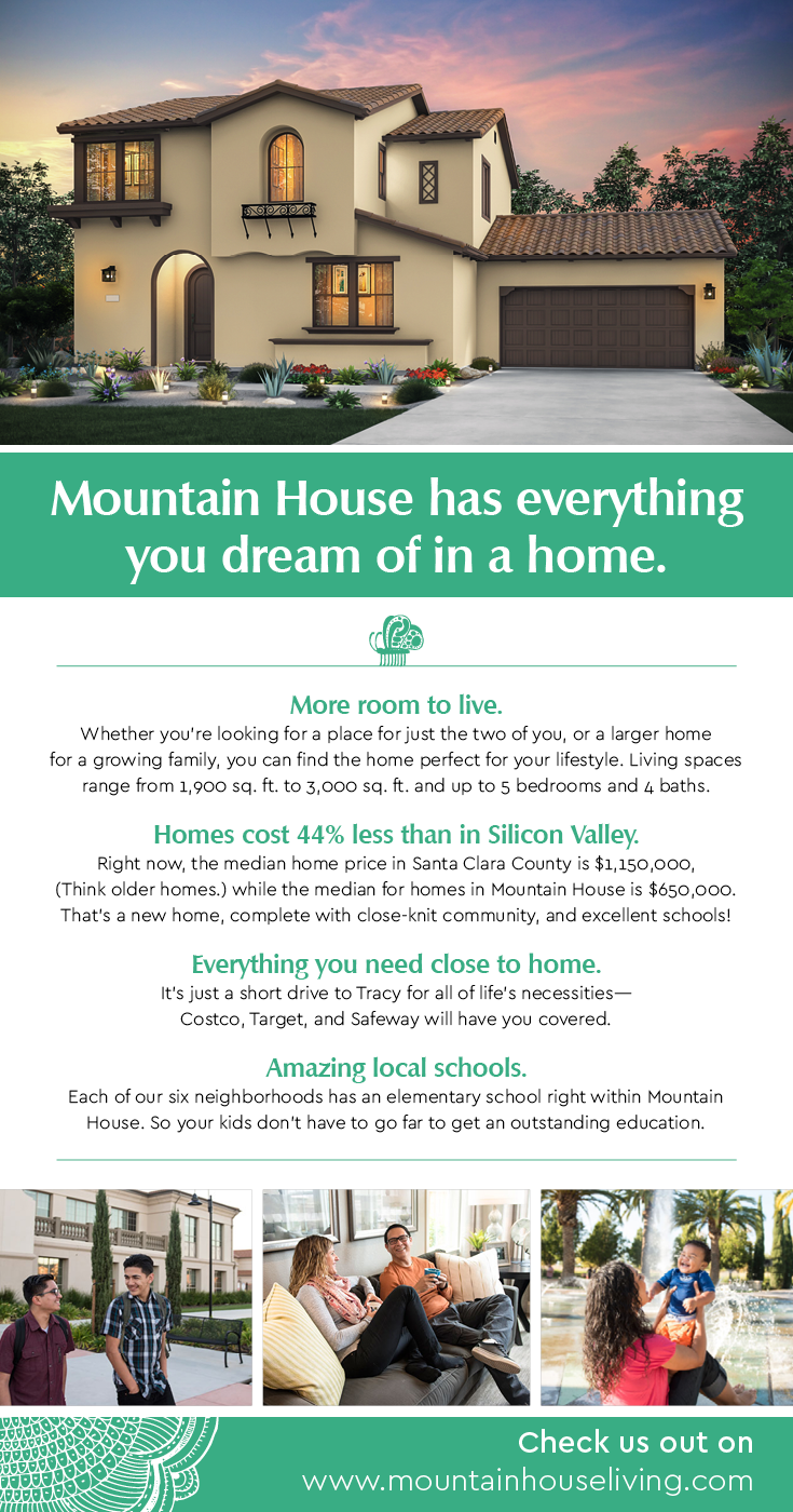 There Are So Many Reasons To Move To Mountain House Like More Space Great Schools And A True Hometown Mountain House New Homes For Sale Mountain House Plans
