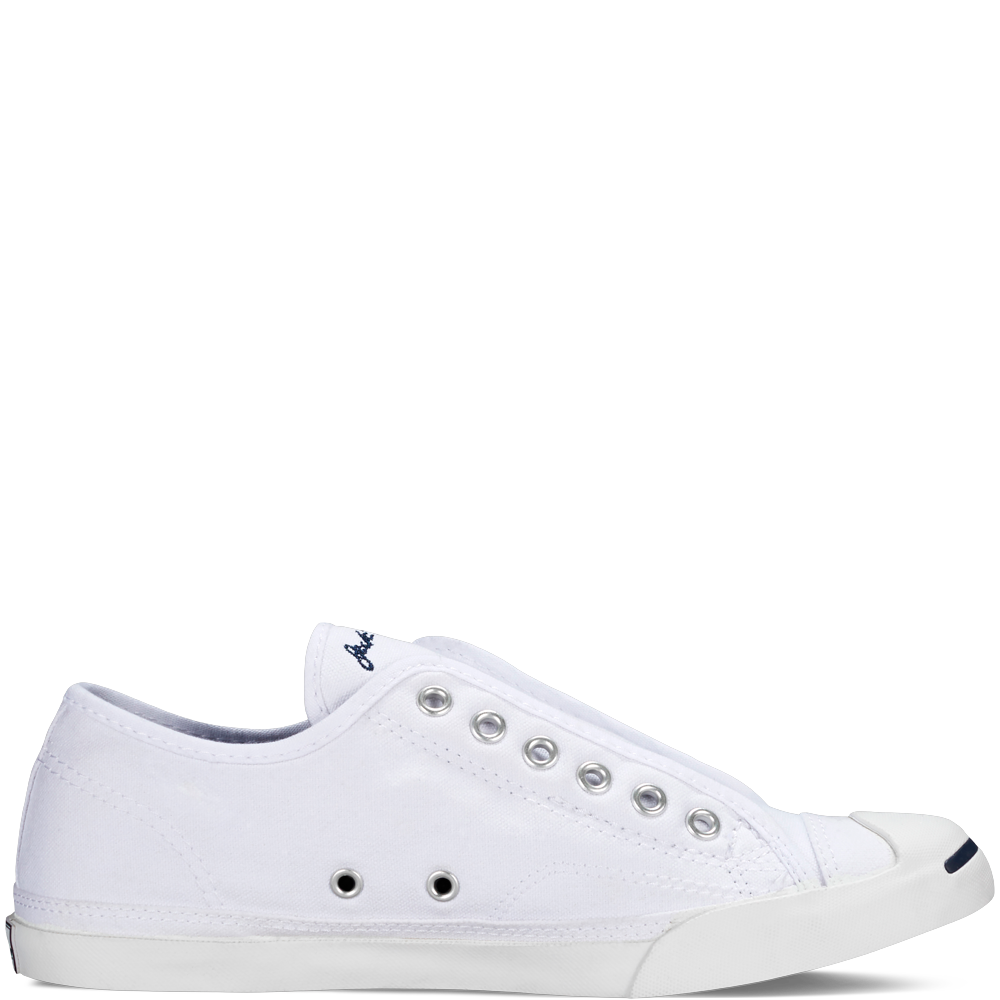White slip on shoes, Jack purcell