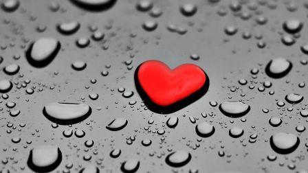 Drop Heart Water Lovely Red Black Cute Rain Wallpaper 1520809 Beautiful Wallpaper Hd Wallpaper Images Hd Love Wallpaper For Mobile