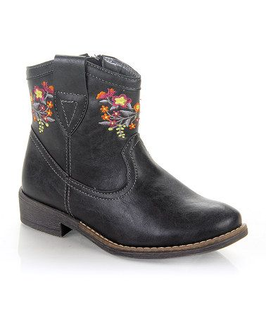 Look what I found on #zulily! Black Clever Cowboy Boot by Jelly Beans #zulilyfinds