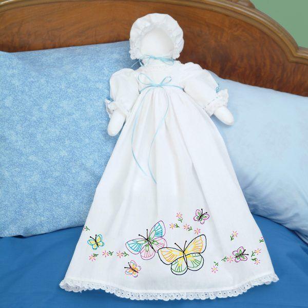 Fluttering Butterflies Pillowcase Doll | Jack Dempsey Needle Art