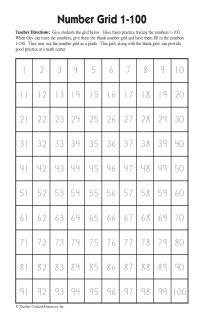 1+100+Number+Tracing+Chart | Number | 100 chart printable, Numbers 1 ...