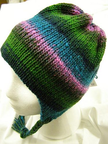 This Is An Easy Earflap Hat To Make On Your Chunky Knitting Machine