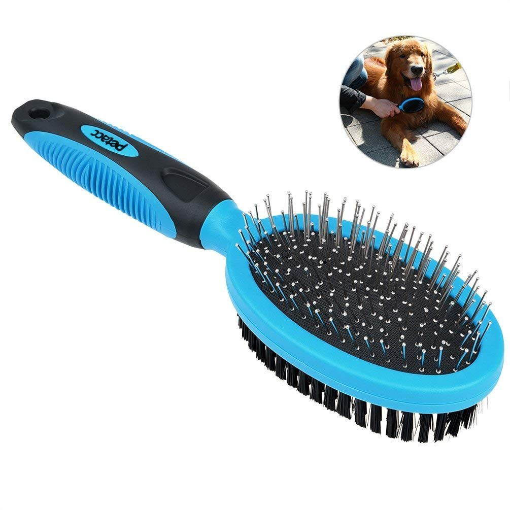 Petacc Dog Grooming Brush Self Cleaning Slicker Brushes Best Shedding Tools For Grooming Small Large Dog Cat Horse Short Long H Pet Grooming Grooming Pet Brush