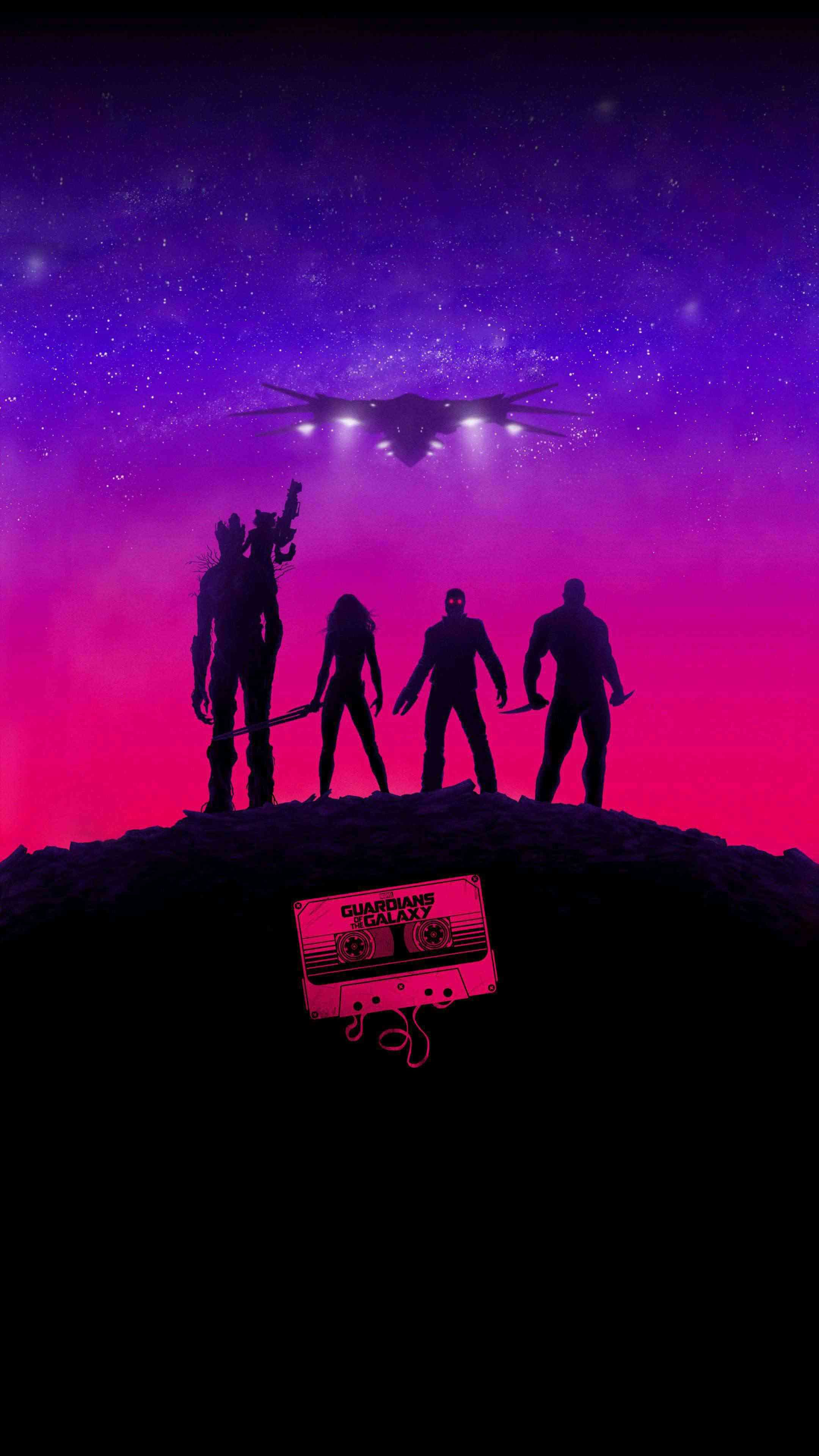Guardians Of The Galaxy Hd Iphone Wallpaper Marvel
