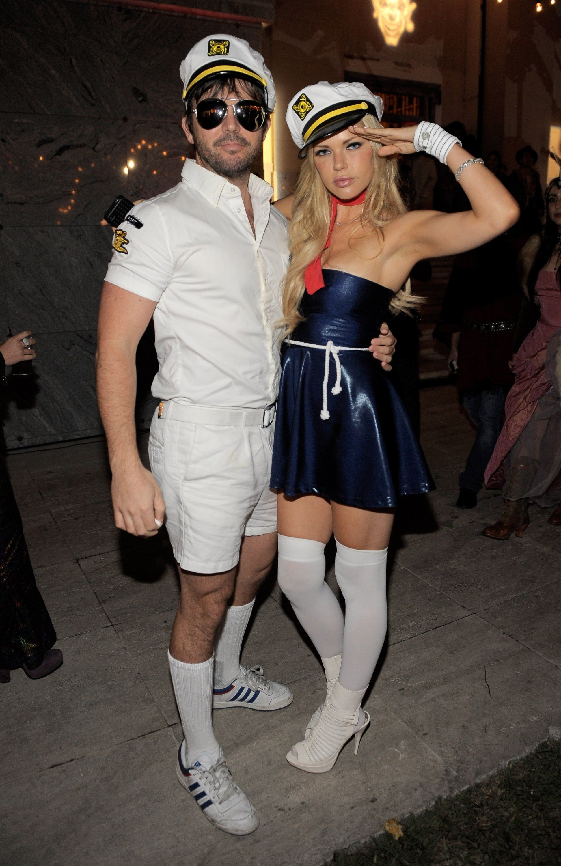 pin for later 90 cute crazy and creepy celebrity halloween costumes jason gann and sophie monk looked ready to take on the high seas in their sailor - Sailors Halloween Costumes