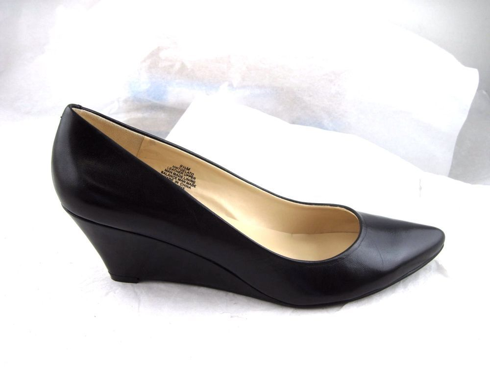 65b397e03 Nine West Gelato size 9.5M 40.5 womens black wedges pumps heels wedges # NineWest #PlatformsWedges