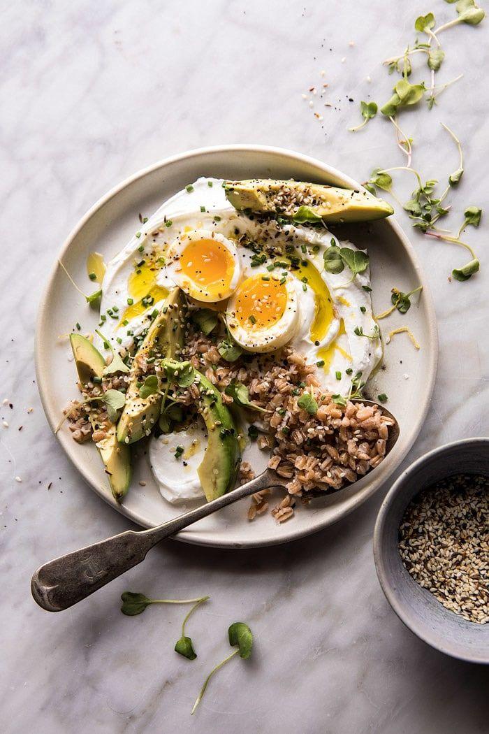 The Best Everything Spice Egg Avocado Yogurt Bowl | halfbakedharvest.com @hbharvest #breakfast #healthy #avocado