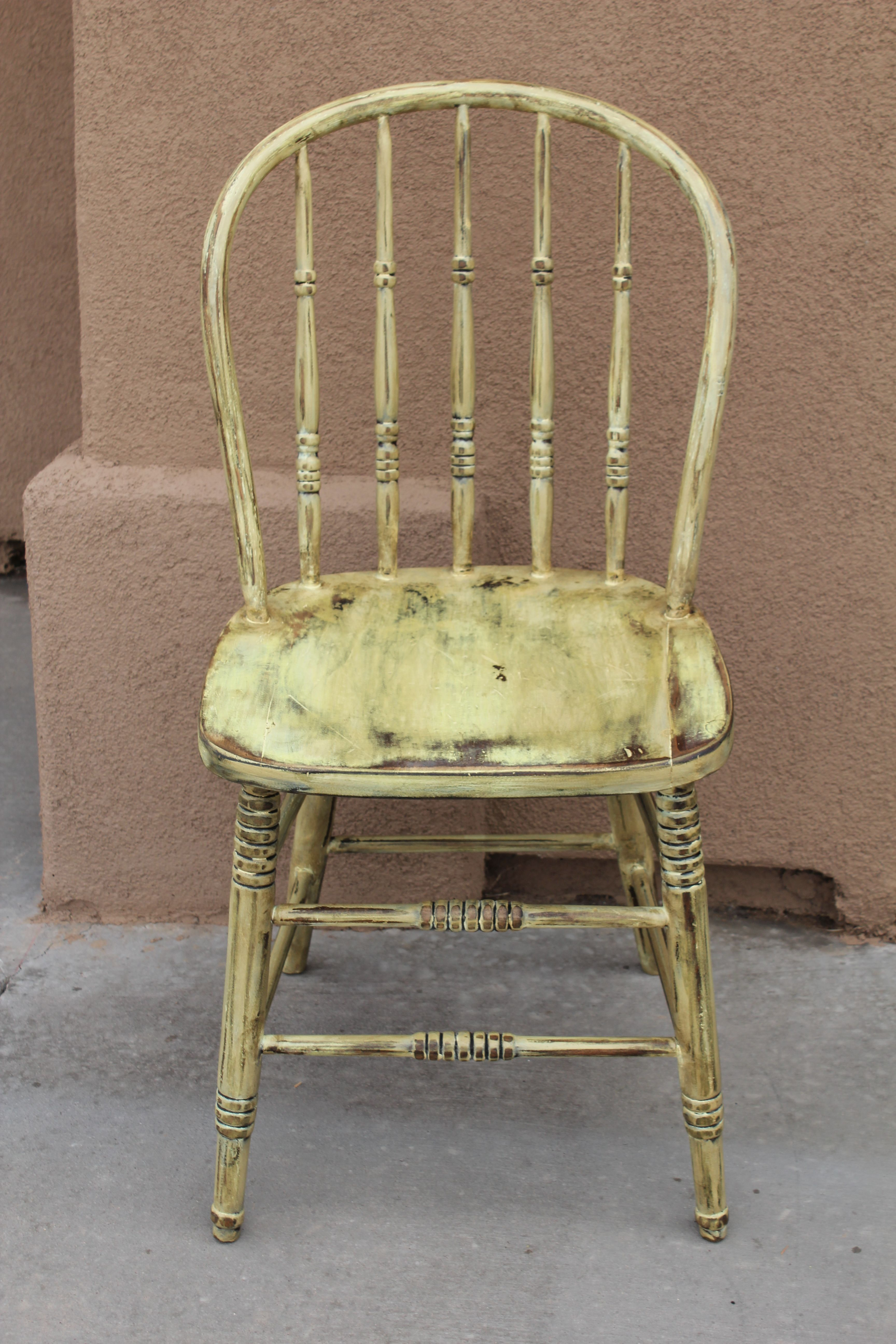 Yellow Distressed Chair