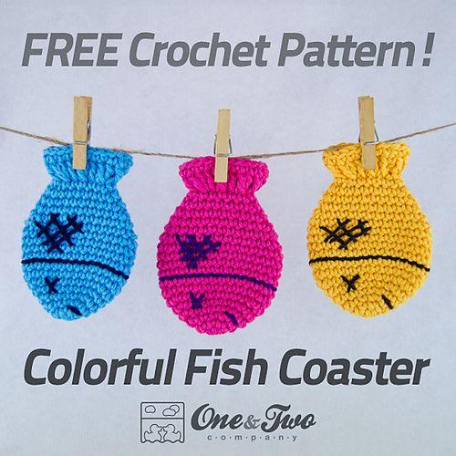 Colorful Fish Coaster Crochet Pattern | Crochet | Pinterest ...
