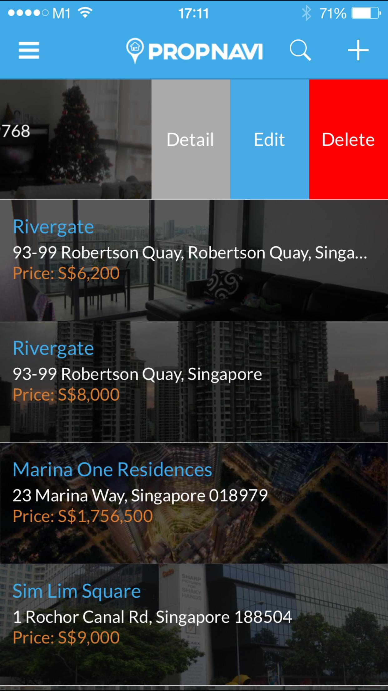 Propnavi Property Agent listing Edit Call Keith Tan to