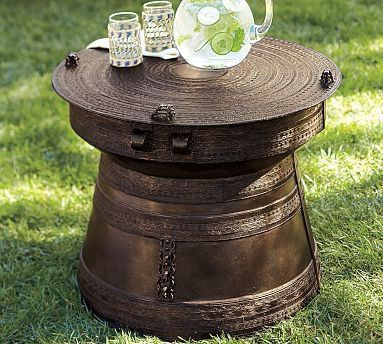 Frog Rain Drum Accent Table Pottery Barn From Potterybarn