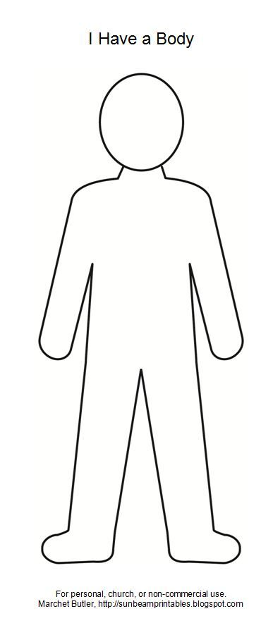 photograph about Printable Body Outline identified as entire body determine clipart - Google Appear Training amount