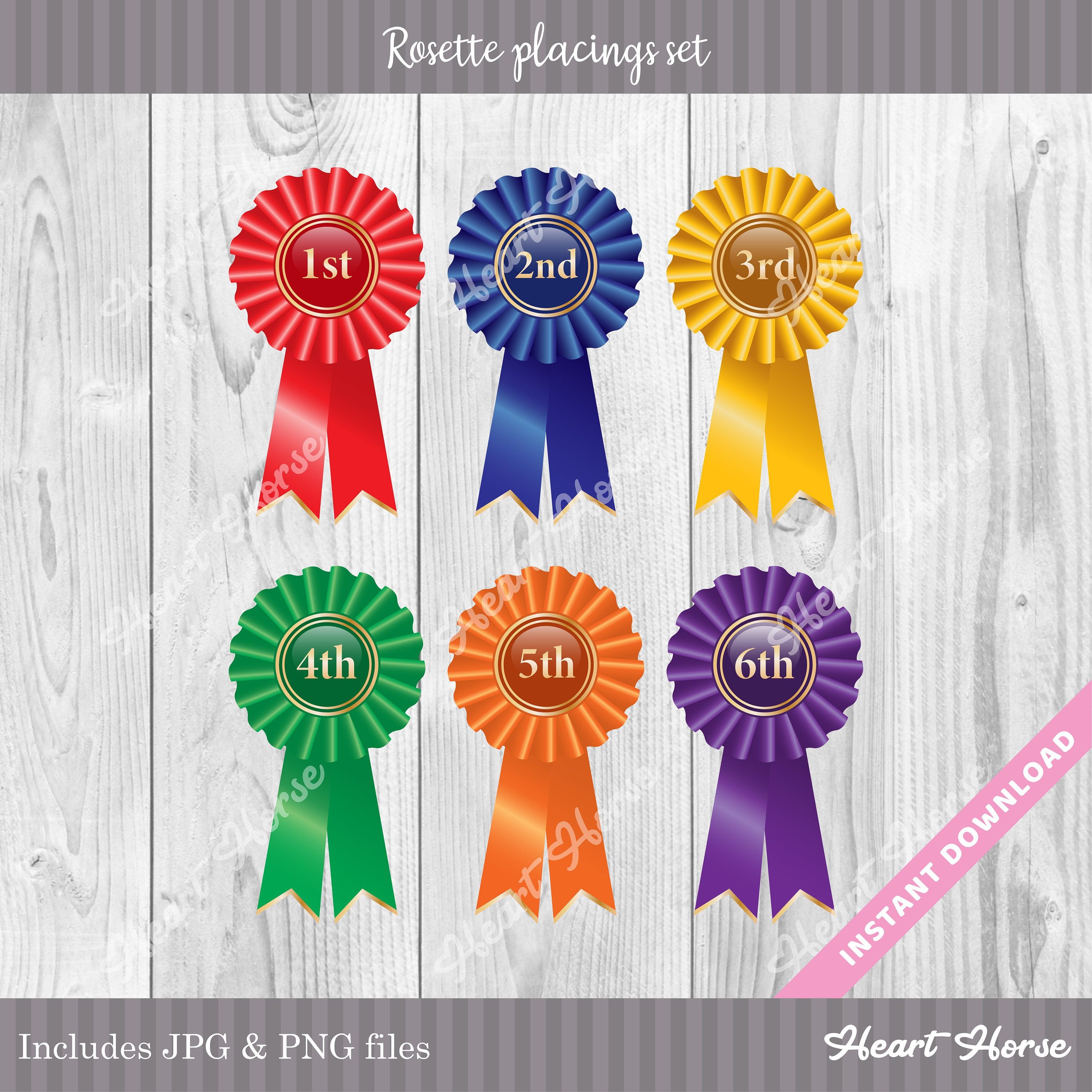 Printed with your Text 100 Personalised Rosettes Logo Cheap Printed Rosettes