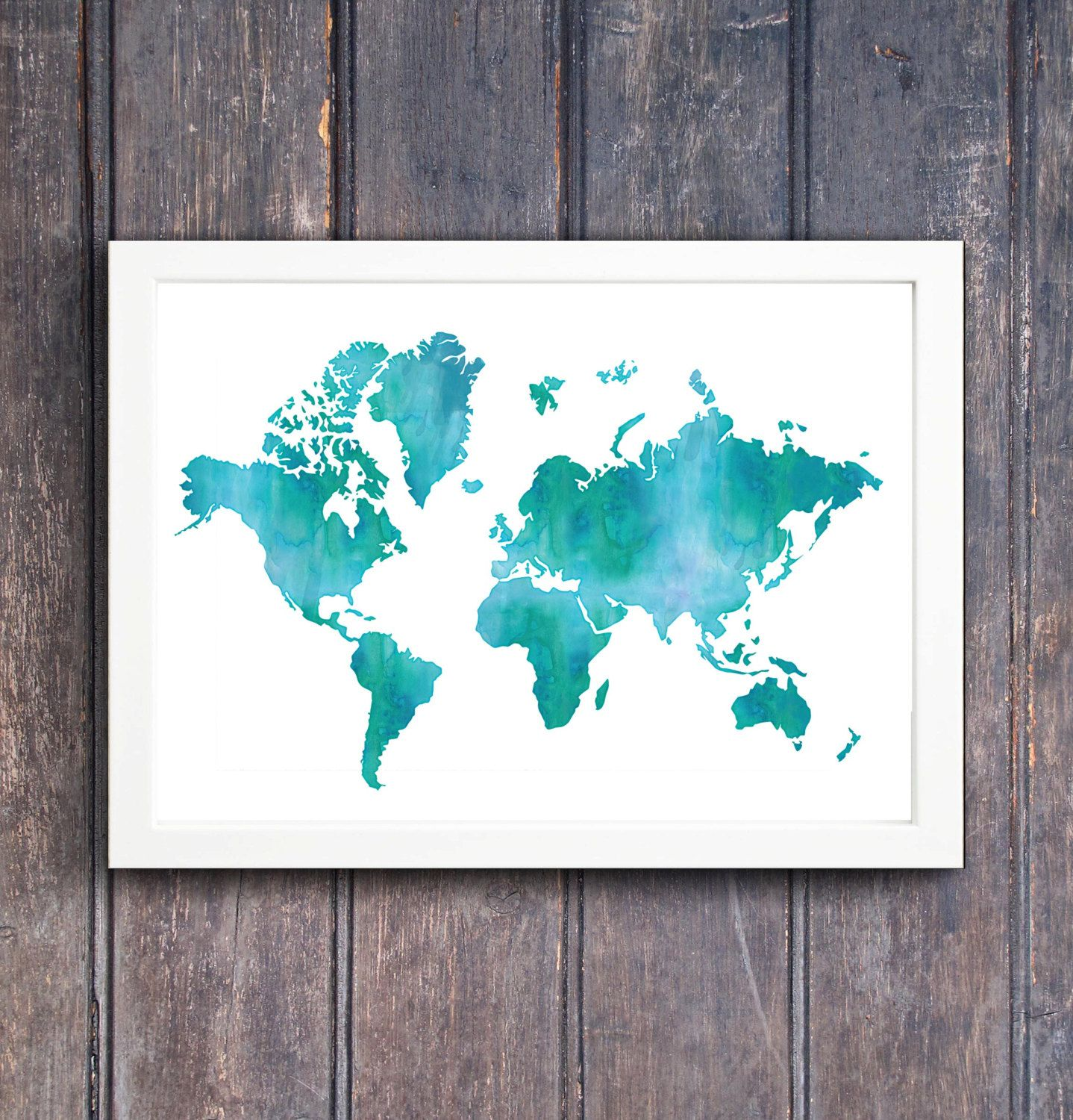 Large watercolor world map printable wall art instant download large watercolor world map printable wall art instant download 24x36 inches sciox Image collections