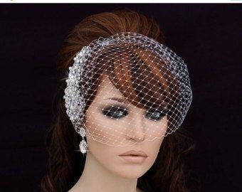 SALE Birdcage Veil Bird Cage Veil Bridal Veil by EleganceByKate