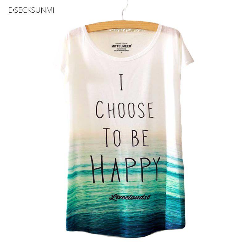 2017 Brand New Polyester T-Shirt Women Short Sleeve t-shirt o-neck Causal loose ocean t shirt Summer tops for women