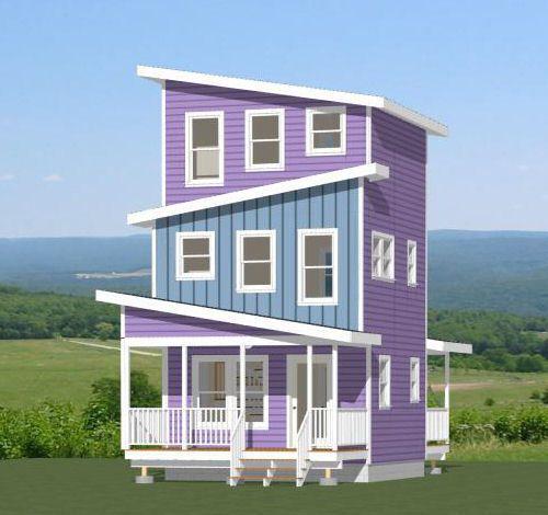 16x16 Tiny House 671 Sqft Pdf Floor Plan Model 22 Tiny Homes