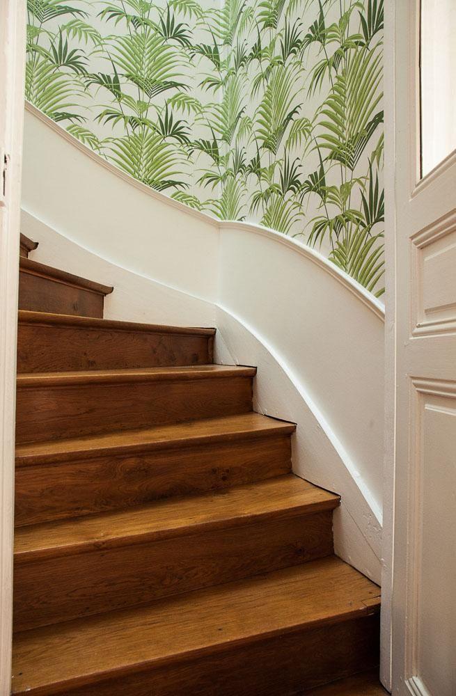 escaliers vgtal papier peint au fils des couleurs maison reims mathilde lacombe - Papier Peint Pour Couloir Et Cage D Escalier