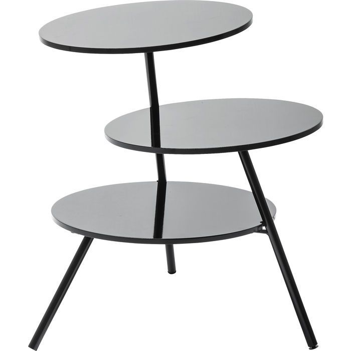 Side Table Three Circles Black Ø50cm - KARE Design Kare Design - kare design wohnzimmer