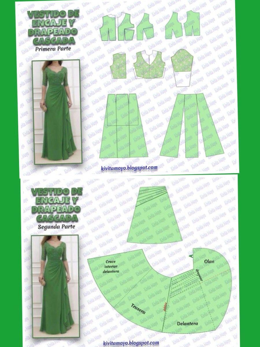 Pin de Ideando a Mano en Costura Moda | Pinterest | Costura ...