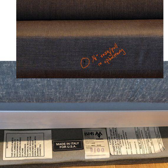 Slate Grey Sleek Modern Lunar Sleeper Sofa By B B Italia Minimal