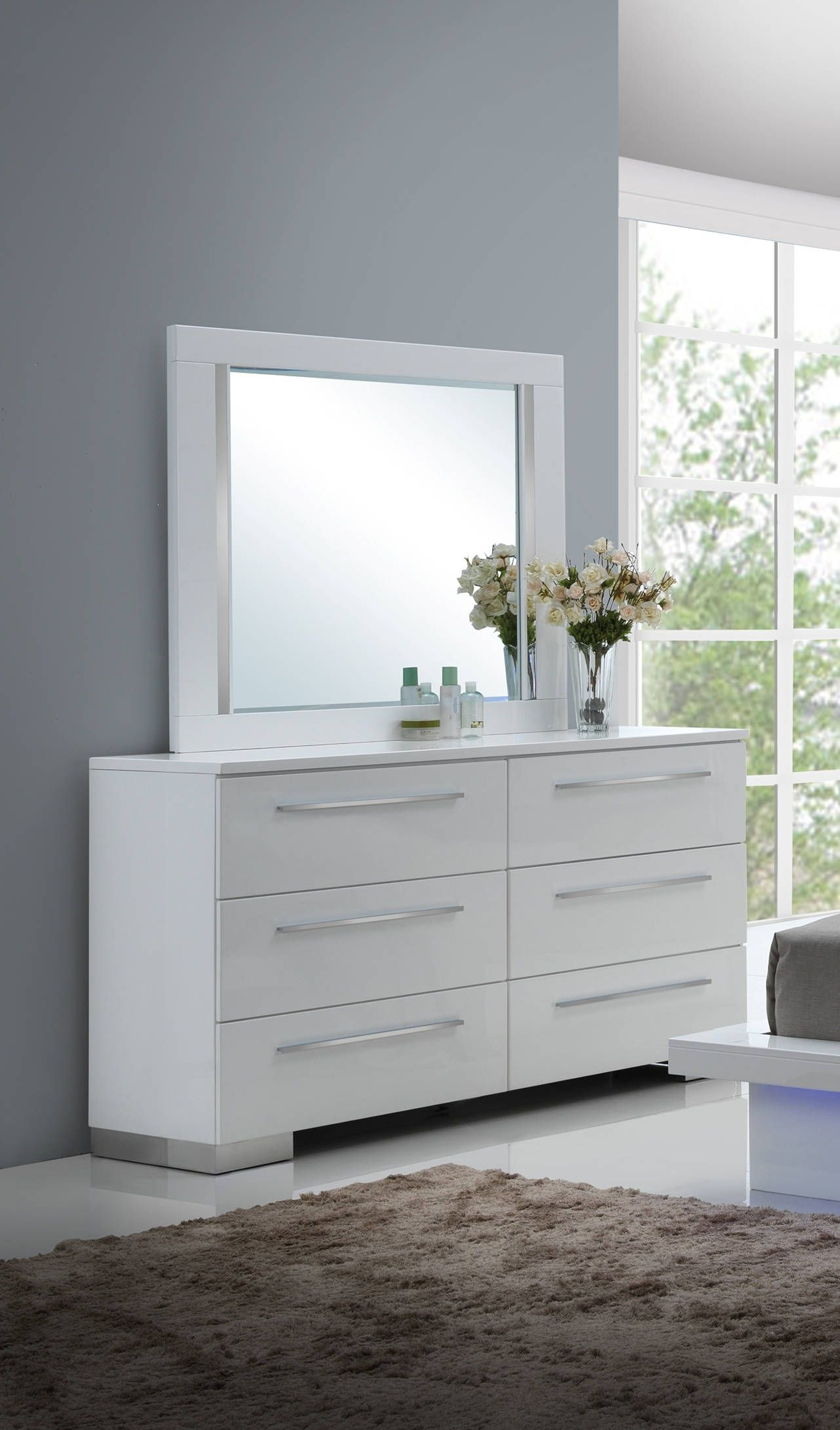 Furniture Shire Dresser And Mirror