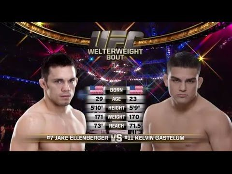 UFC 183 Free Fight: Kelvin Gastelum vs. Jake Ellenberger | Ufc ...