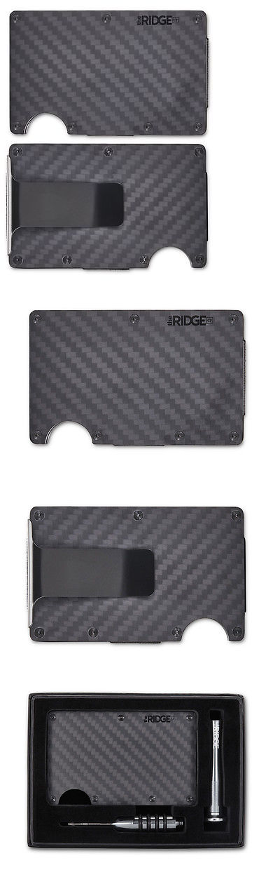 6c907b9274a Wallets 2996  The Ridge Wallet Carbon Fiber Money Clip Minimalist Front  Pocket Slim Rfid Block -  BUY IT NOW ONLY   115 on eBay!