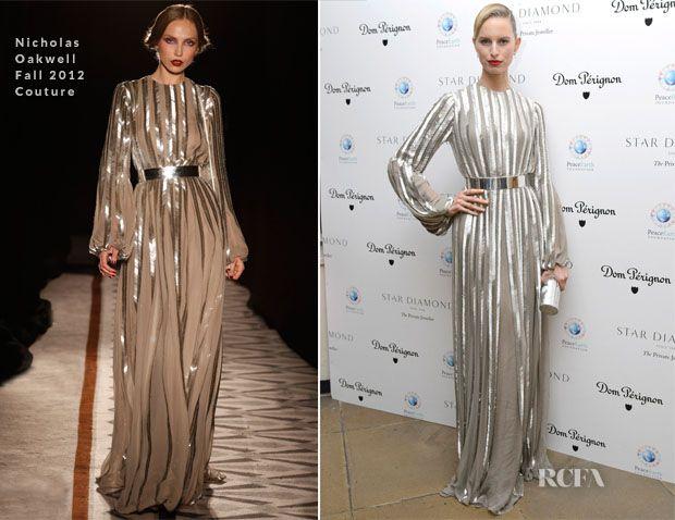 Karolina Kurkova In Nicholas Oakwell Couture – PeaceEarth Foundation Fundraising Gala