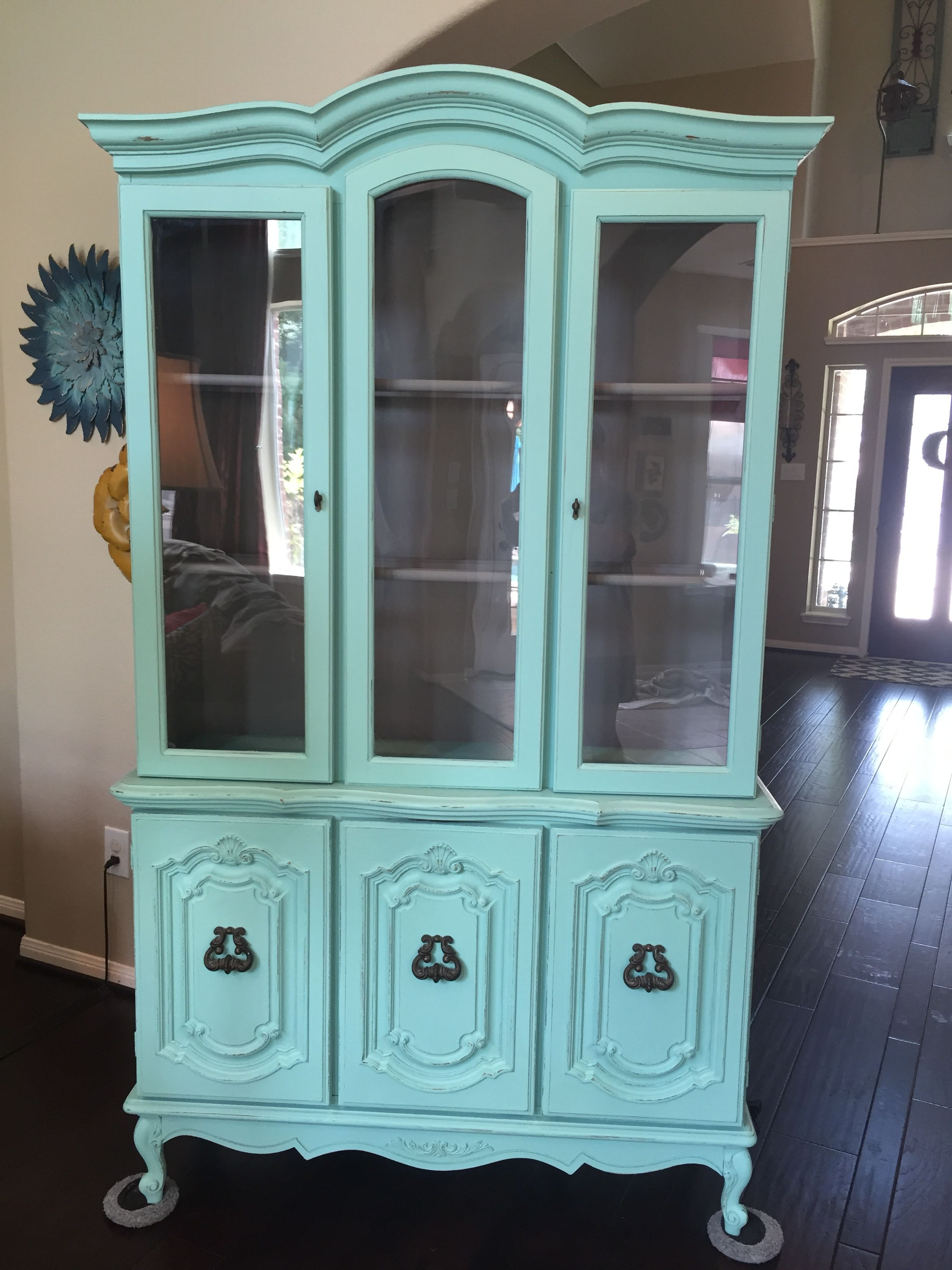 Hutch Makeover Chalk Paint