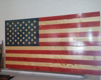 Wooden American Flag With Gun Storage Etsy Base Wooden