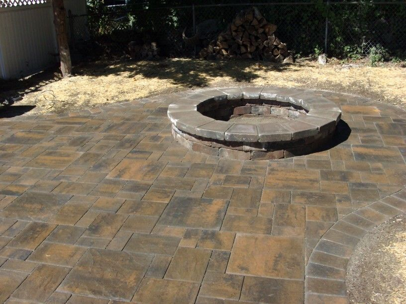 Patio and Firepit done by Knob Hill Landscaping LLC.