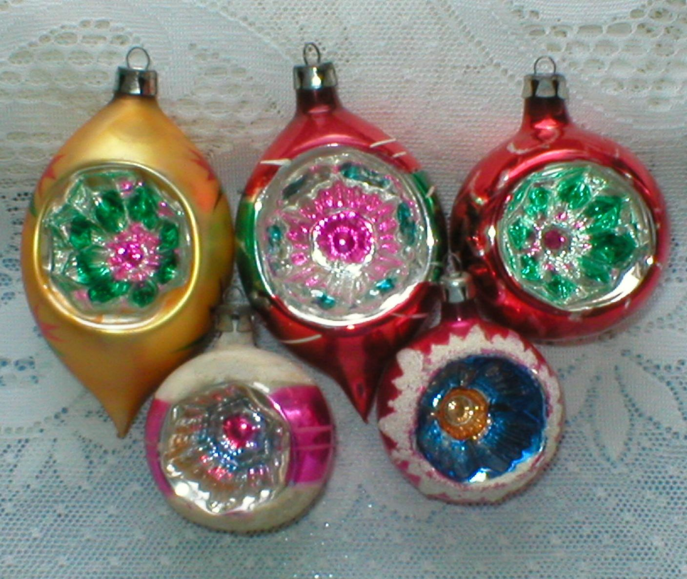 Poland Christmas Ornaments Fancy Indents Lot of 5 Vintage | It\'s ...