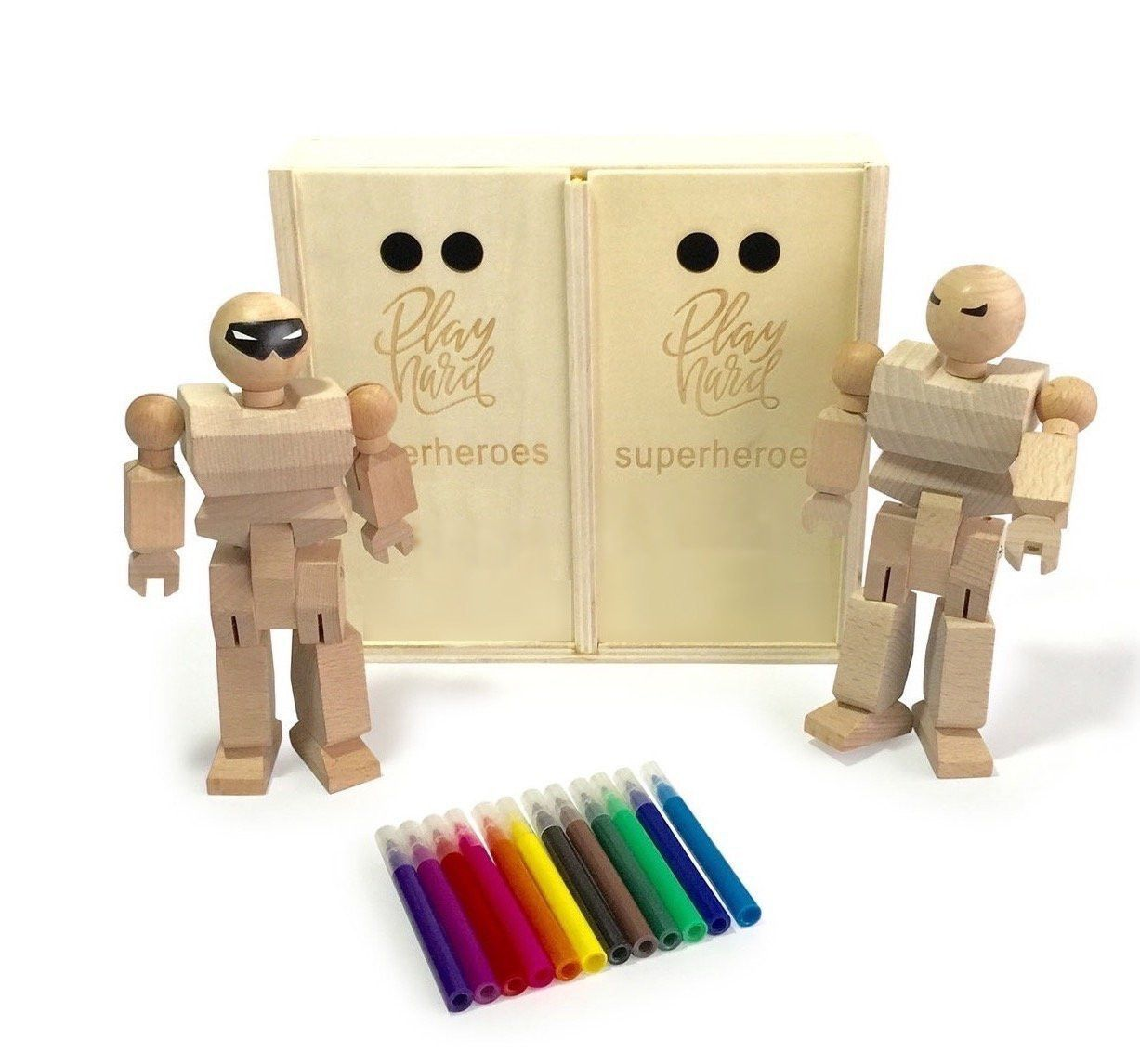 Wooden Action Heroes Kit