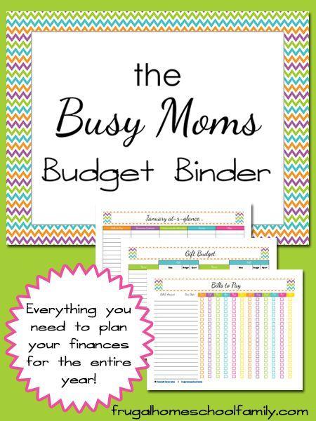 Free Printable Busy Mom\u0027s Budget Binder Bullet Journal Pinterest