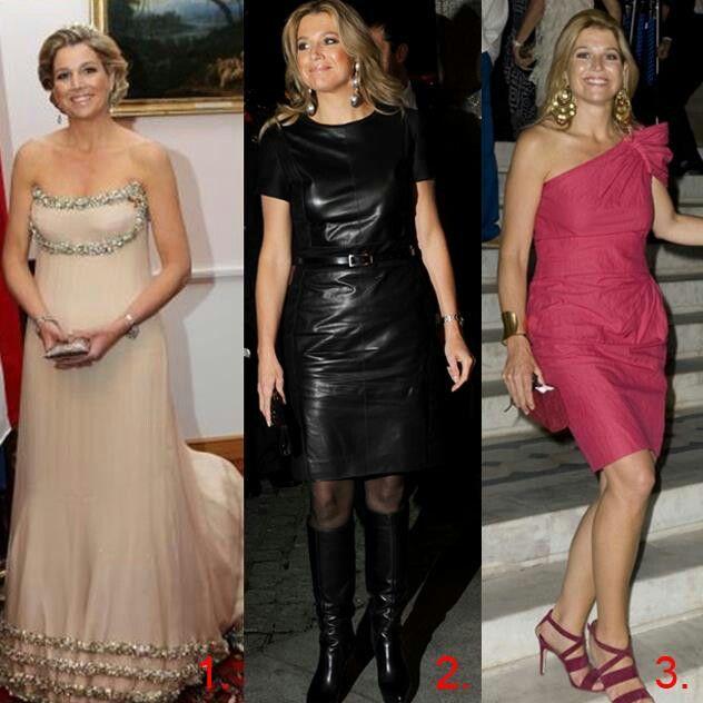 Verschillende stijlen van prinses Maxima.