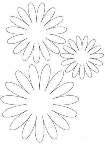 Moldes De Flores De Papel Gigantes En Cartulina Para Boda Crafts