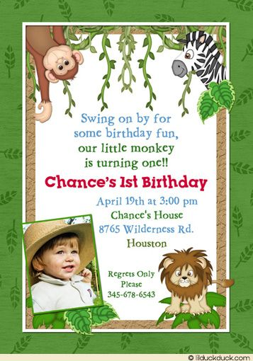 Wording For A Safari Themed Birthday Party