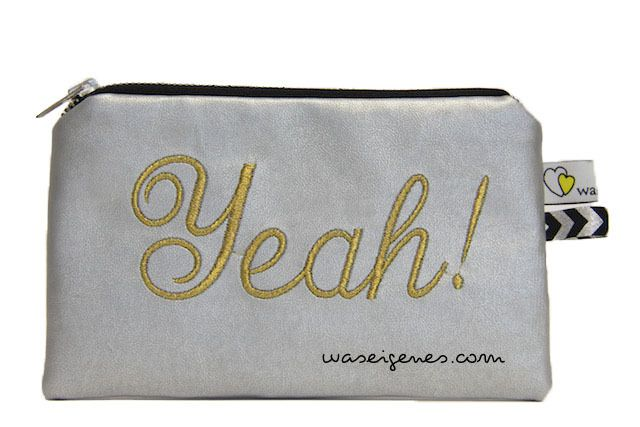 ::: yeah! [kunstleder täschchen silber] von ::: was eigenes auf DaWanda.com