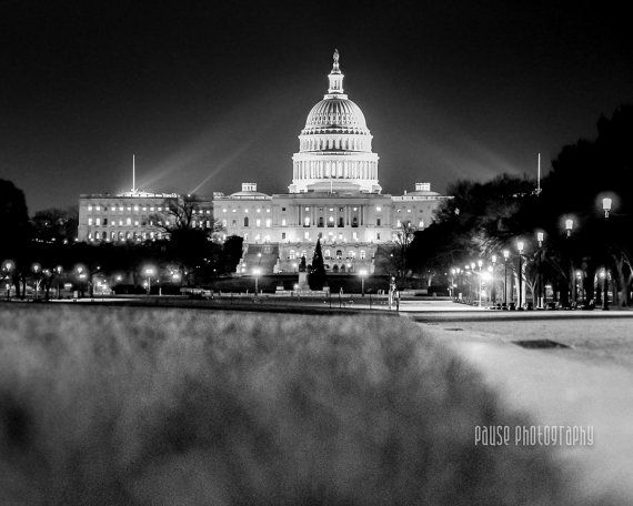 Washington DC Art Black and White Photography Fine Art Print