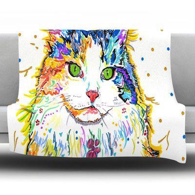 "KESS InHouse Royal by Rebecca Fischer Fleece Throw Blanket Size: 90'' H x 90'' W x 1"" D"