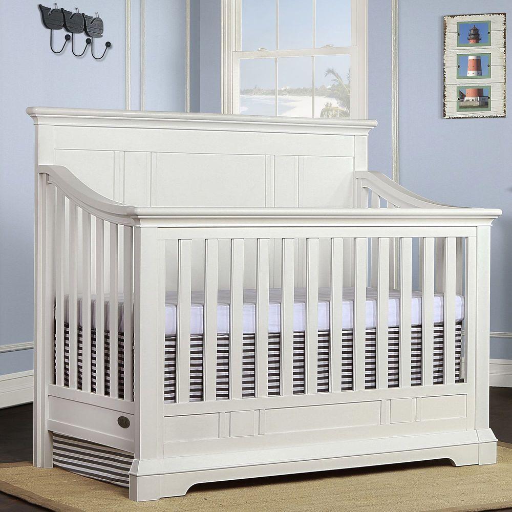 Evolur Parker 5 In 1 Convertible Crib Winter White Ebay